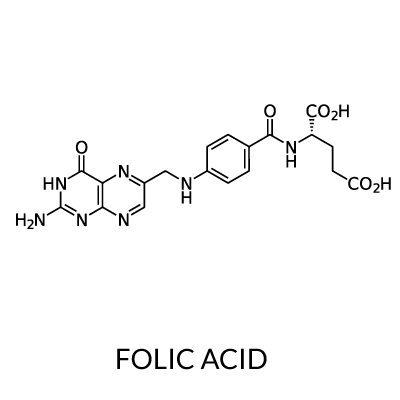 Folic acid Chemical Structure