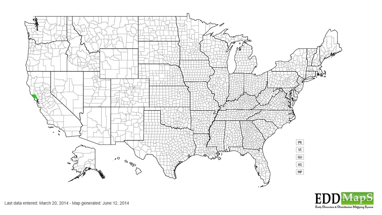 Mistletoe distribution - United States