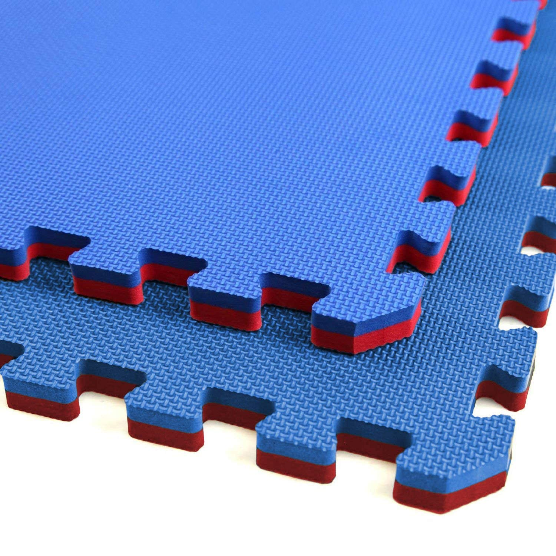 Jumbo Soft Interlocking Foam Tiles (4 Tiles, Red/Blue)