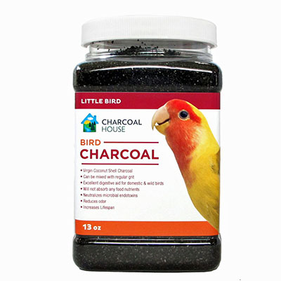 1qt Bird charcoal For Small Birds - Activated charcoal granular