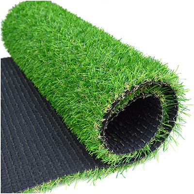 """RoundLove Artificial Grass Turf Patch, 1"""" 4 Tone Synthetic Grass Mat w/Drainage Holes"""