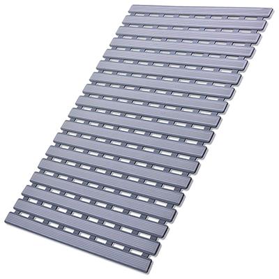 I FRMMY Non Slip Bath Shower Floor Mat with Drain Hole- Anti Slip