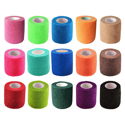"""KISEER 15 Pack 2"""" x 5 Yards Self Adhesive Bandage Assorted Color Breathable"""