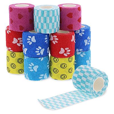 Juvale Self Adhesive Bandage Wrap, Vet Tape (2 in. x 5 yd, 12 Pack)