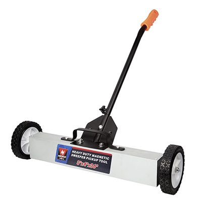 Neiko 53418A 36-Inch Magnetic Pick-Up Sweeper with Wheels | 30-LBS Capacity