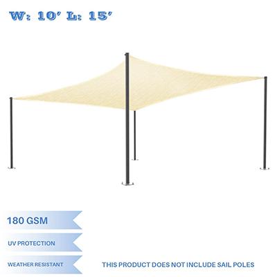 LyShade 12' x 12' Square Sun Shade Sail Canopy