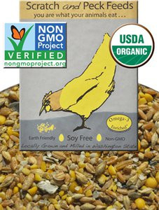 Scratch and Peck Organic Soy Free Layer Feed with Corn For Chickens and Ducks image